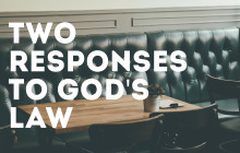 response to God's law
