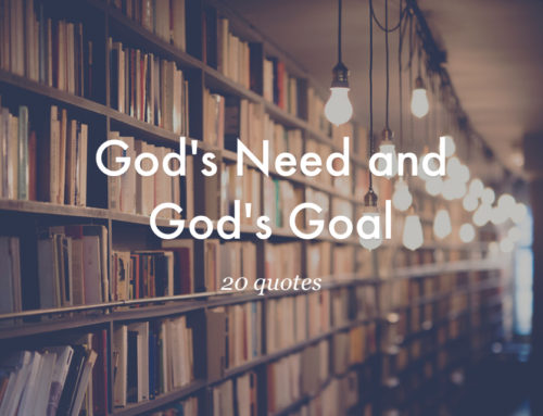 20 Quotes from God's Need and God's Goal